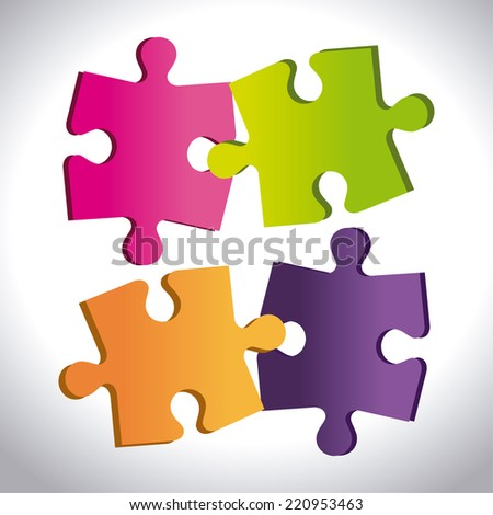 Puzzle design over white background, vector illustration