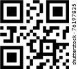 qr and bbm code eps10 - stock photo