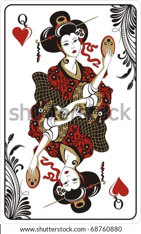 Queen of hearts card tattoo queen of hearts from deck of