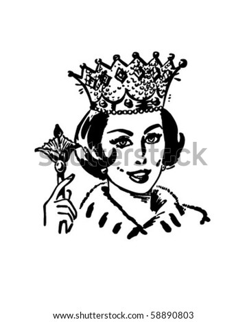 Queen Clipart Black And White Clipart Queen Q...