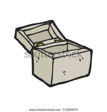 quirky drawing of an open box