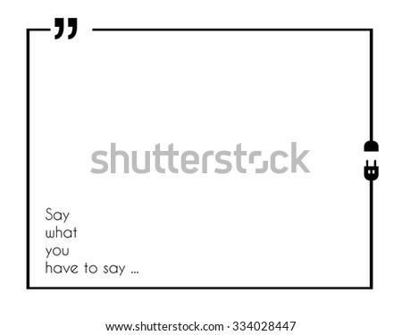 Vector Quote Sample Text Template Grey Stock Vector 354066425 ...