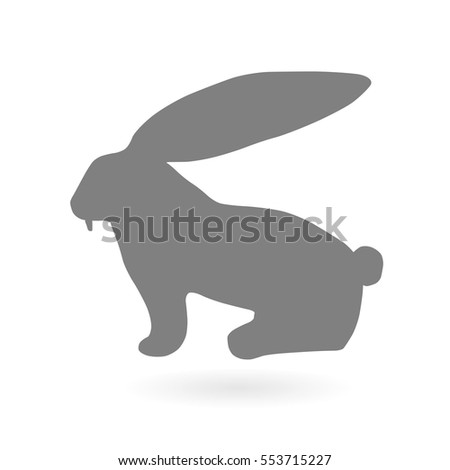 Rabbit with big ears. Vector illustration. Icon.