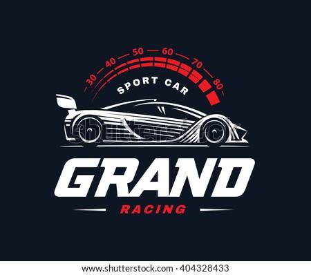 Sport Cars Logo Illustration On White Stock Vector