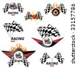 racing set #3 - stock vector