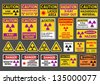 Radiation signs - stock photo