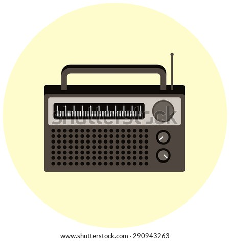 Radio on flat design.