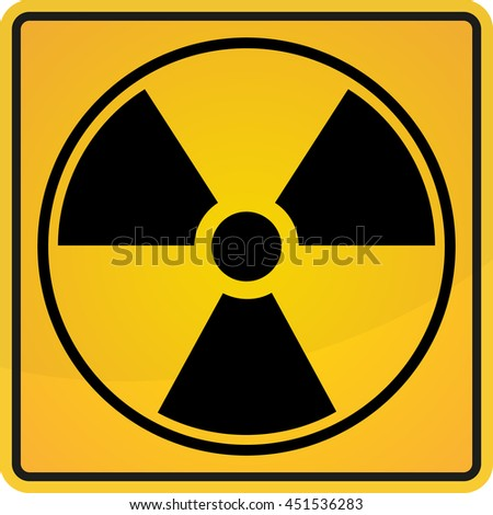 Radioactive sign, symbol in circle