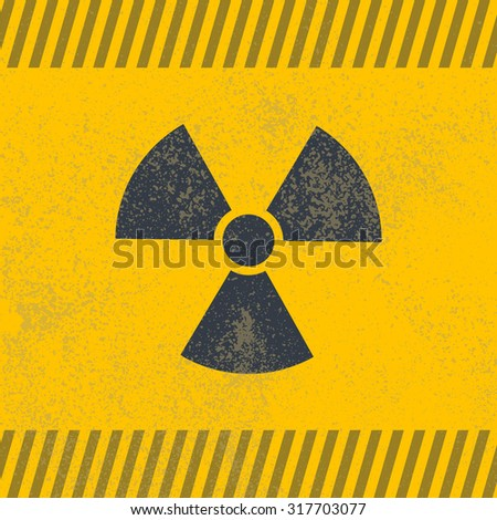 Radioactive symbol. Design element. Vector illustration,eps 10.