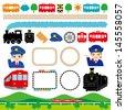 railroad - stock vector
