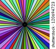 Rainbow colored rays vector image - stock vector