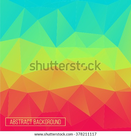 Rainbow gradient polygonal abstract background. Design element. Polygon wallpaper.