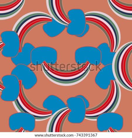 Rainbow Seamless Pattern. Rainbows Design For Textile, Interior Design,  Linens, Etc.