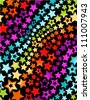 Rainbow stars seamless pattern - stock vector