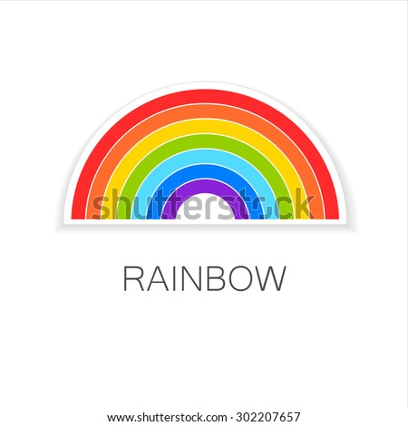 Rainbow Logo Icon Template Set Stock Vector   Shutterstock