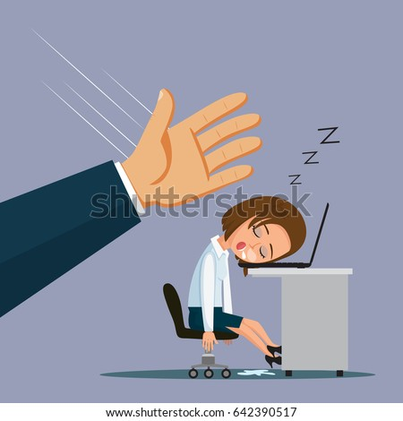Tired business man slapping hands for cheer up at night ... |Hand Slapping Workers