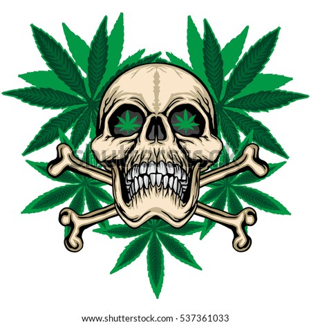 rastaman skull cannabis leafs stock vector 603731399 shutterstock. Black Bedroom Furniture Sets. Home Design Ideas