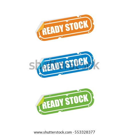 Ready Stock Sticker Labels