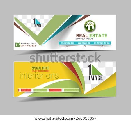 Web Banner Header Layout Template Stock Vector 151382072 ...