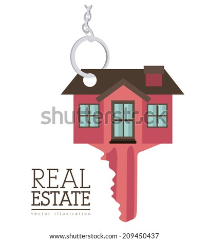 Real estate design over white background, vector illustration
