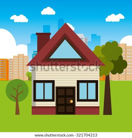 Real Estate Home Design, Vector Illustration Eps 10