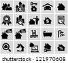 Real Estate icons. - stock vector