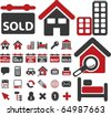 real estate signs. vector - stock vector