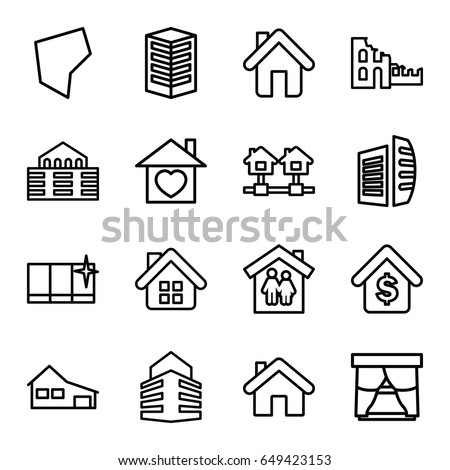 Real Estate Symbols 74889742 on home building infographic
