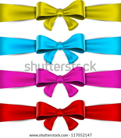 Realistic bow collection. Vector eps10.