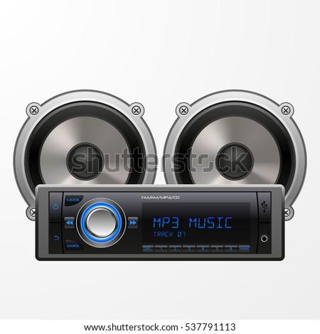 Car Audio Speakers Vector Illustration Stock Vector 68810851 ...