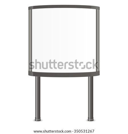 Realistic 3d citylight. Ad lightbox. Mock Up Template Ready For Your Design. Vector illustration