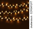 realistic glowing garland on a...