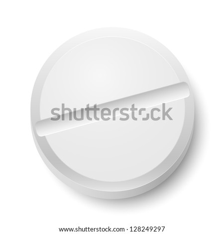 Realistic Pill. Illustration on white background  for design
