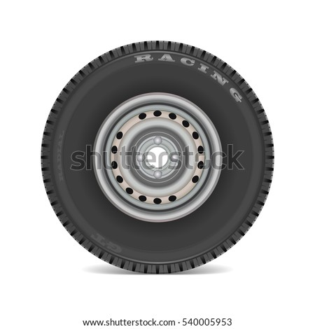 Realistic tires. Vector eps 10.