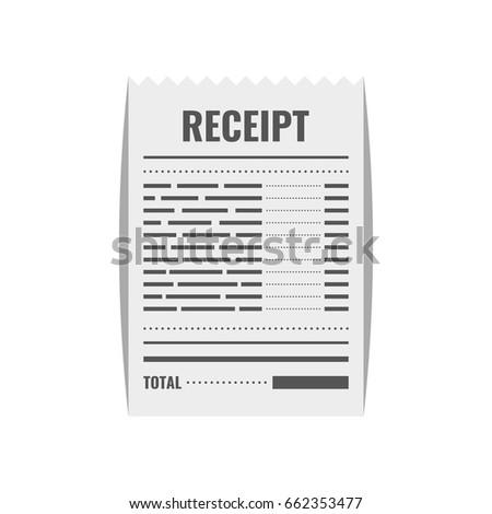 Receipt Icon Invoice Sign Bill Atm Vector 667955731 – Bill Receipt