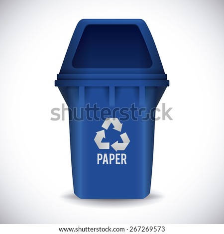 Recycle design over white background ,vector illustration.