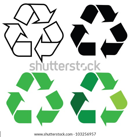 recycle sign in different format, for eco environments.