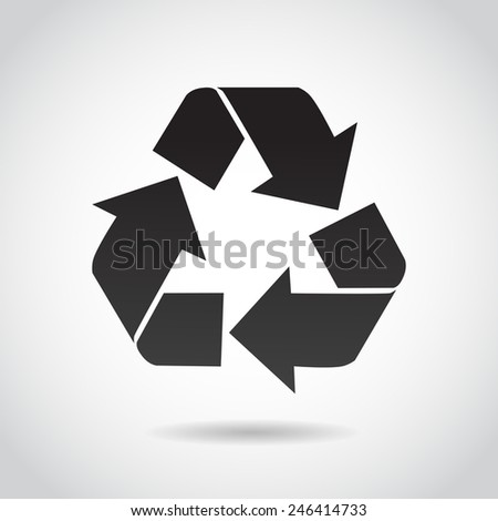 Recycling icon isolated on white background. Vector illustration.