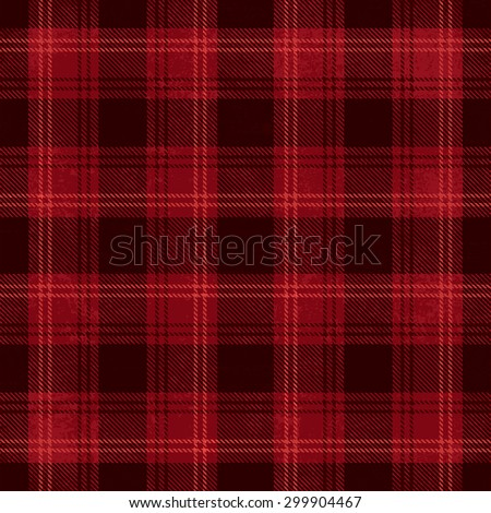 Red and black vector tartan inspired pattern background