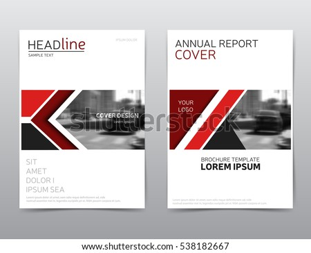 Red Flyer Template Red Vector Business Proposal Leaflet Brochure