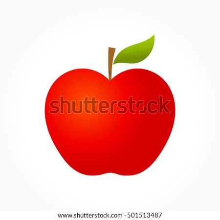 Red apple. Vector illustration
