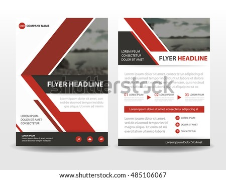 Corporate brochure flyer design layout template in a4 size with bleed - Red Cover Design Annual Report Template Stock Vector
