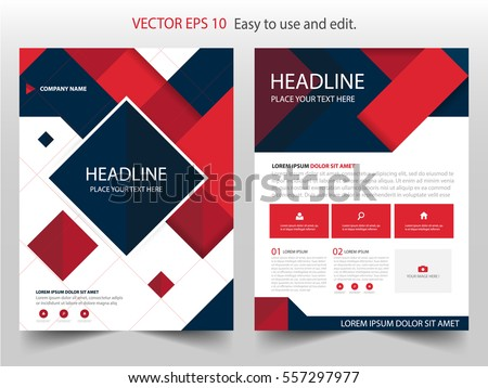 Blue Vector Annual Report Leaflet Brochure Stock Vector