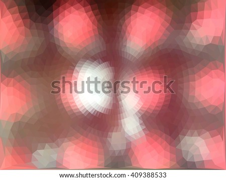 Red brown triangle circle abstract background