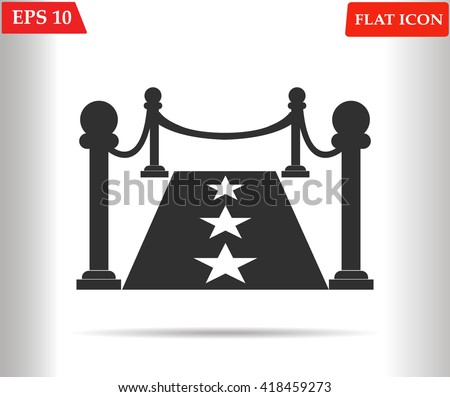 Red carpet icon.Vector illustration