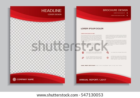 Red Flyer Design Template Brochure Annual Stock Vector 519550882