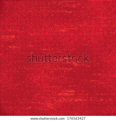 Red grunge tiled vector pattern background