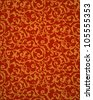 Red seamless pattern, vector - stock vector