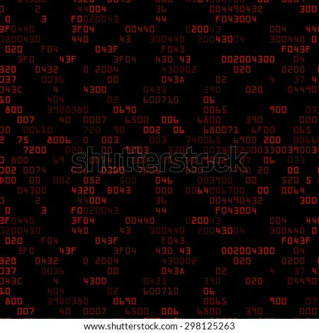 Red security background with HEX-code. Vector illustration