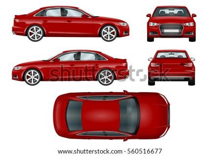 car vector template on white background stock vector 512428774 shutterstock. Black Bedroom Furniture Sets. Home Design Ideas